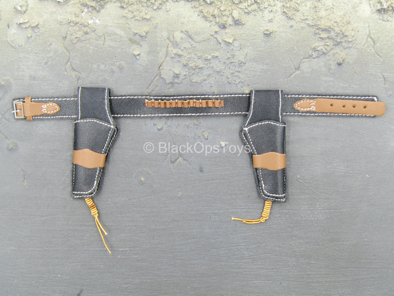 Western Set - Black & Russet Brown Double Rig Holster