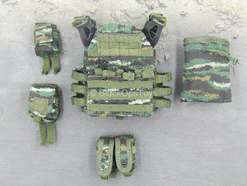 Snow Leopard Commando Unit - Chinese PLA Tiger Stripe Vest Set