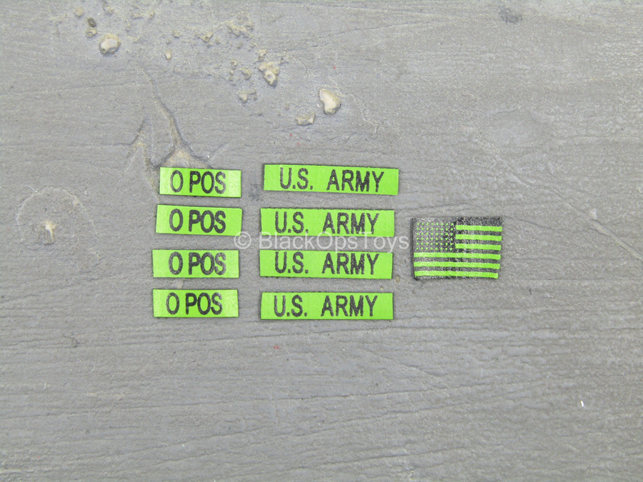 Green US Army Patch Set
