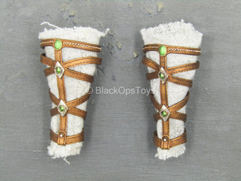 Anubis - Weathered White Greaves