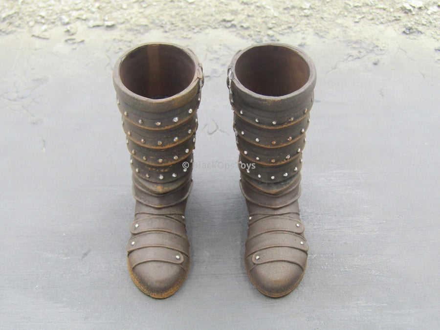 Viking Vanquisher - War Lord Leather-Looking Boots (Peg Type)
