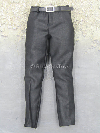 John Wick - Black Dress Pants w/Belt