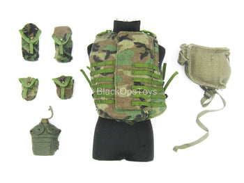 101ST Airborne - Woodland Camo Spear Body Armor w/Pouch Set