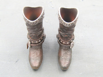 The Cowgirl - Cowgirl Boots w/Real Metal Spurs (Peg Type)