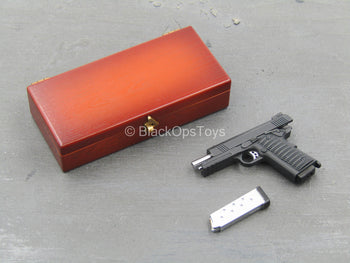 John Wick - Wood Colored Pistol Case w/1911 Variant Pistol