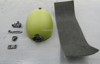 1/6 Scale Green Protective Freeride Helmet Set