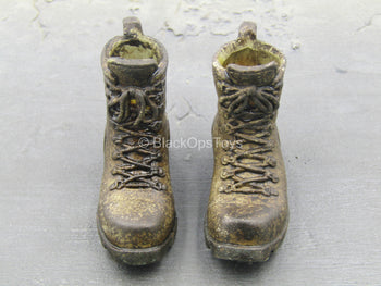 World War Robot - Sniper - Punter - Brown Combat Boots (Peg Type)