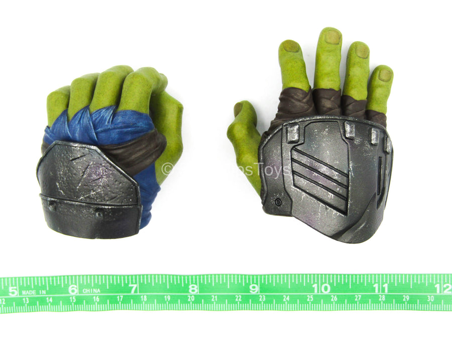 Thor Ragnarok - Gladiator Hulk - Green Male Hand Set Type 1