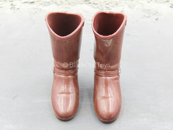 Brown Cowboy Boots (Foot Type)