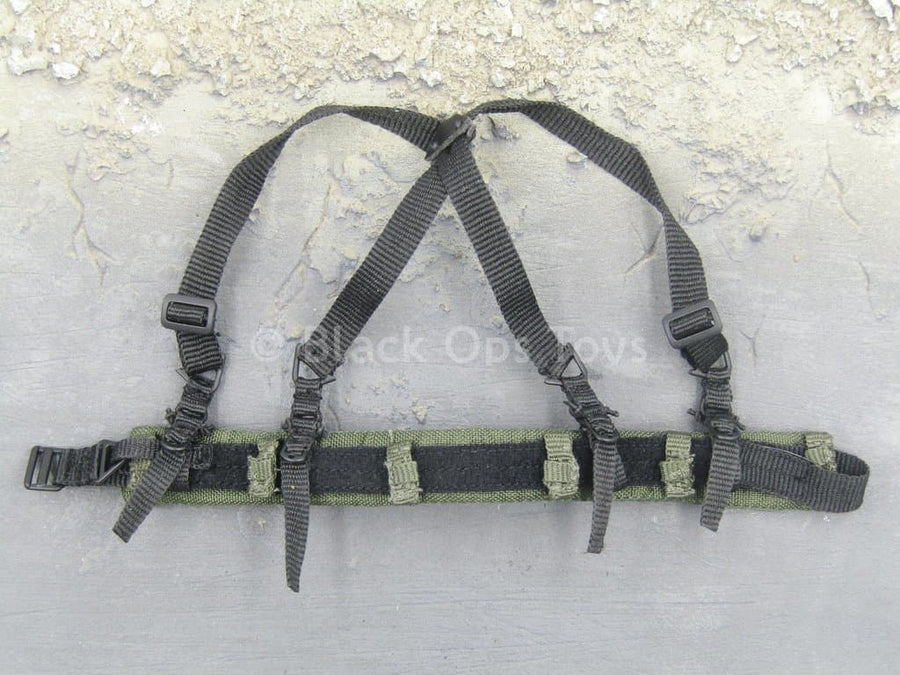 USMC RCT 6th Regiment - Black Padded Belt & Harness