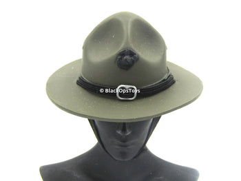 Sgt. R. Lee Erney - OD Green USMC Drill Sgt. Hat
