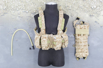 US Navy - NSW Marksman - AOR 1 Camo Chest Rig & Hydration Pouch