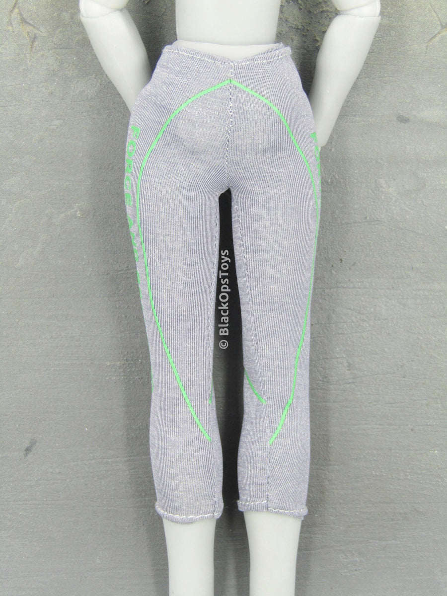 Grey & Lime Green Female Yoga Pants