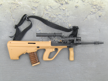 Recon - Tan Steyr AUG Assault Rifle w/Folding Grip