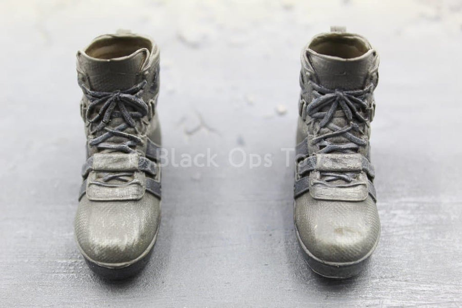 The Division 2 - Brian Johnson - Grey Combat Boots (Peg Type)