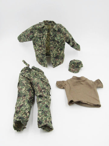 JGSDF Japanese Infantry Kentaro Kogure Combat Camo Uniform & Hat