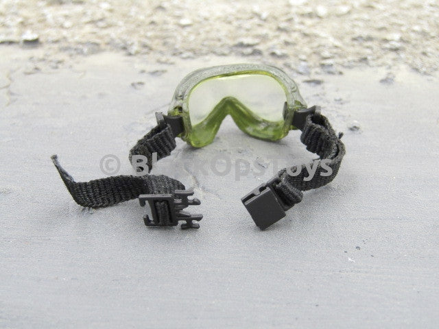 French Airborne BRUNO Green Bolle Goggles