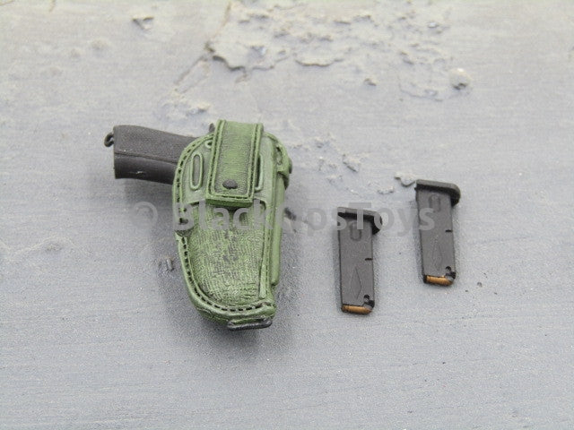 French Airborne BRUNO Pistol Lot with Holster