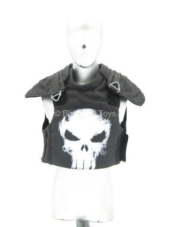 The Punisher - Black Combat Vest w/Skull Detail