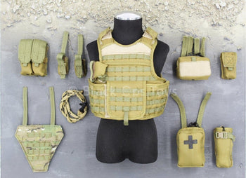 Commonwealth Forces - Coyote Tan Modular Vest & Pouch Set