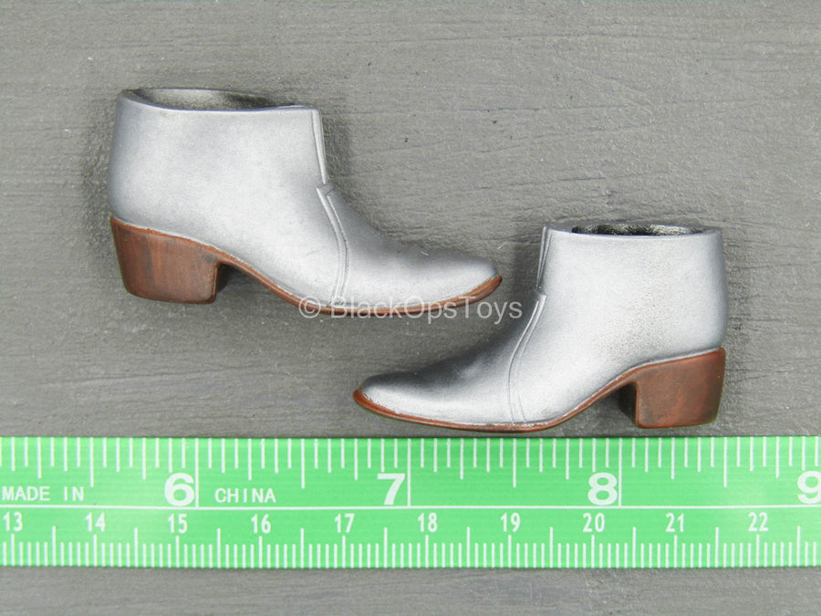 Silver High Heel Shoes (Foot Type)