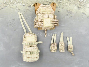 Navy SEAL - Sniper Shooter - AOR-1 Camo Plate Carrier & Pouch Set