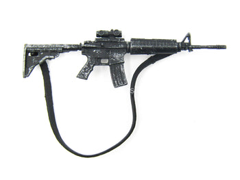 5 INCH SCALE - TWD - Black AR-15 Assault Rifle w/Scope & Sling