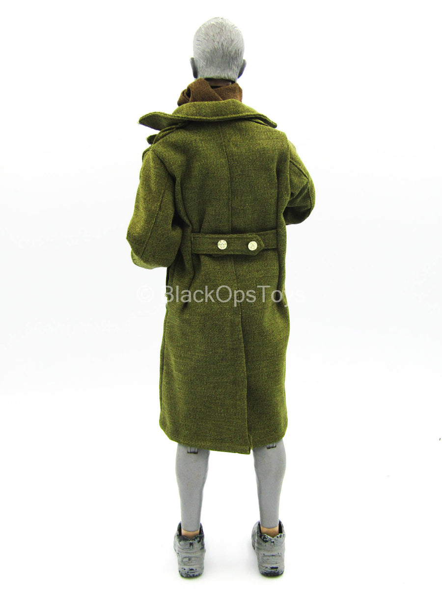WWII Sibret - US Army PVT Tank Destroyer - OD Green Overcoat w/Scarf