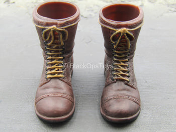 The Screaming Eagles - Pathfinder - Brown Molded Boots(Foot Type)