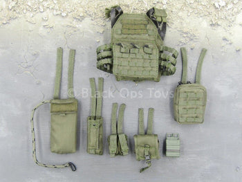 PMC Urban Assaulter - OD Green MOLLE Plate Carrier & Pouch Set