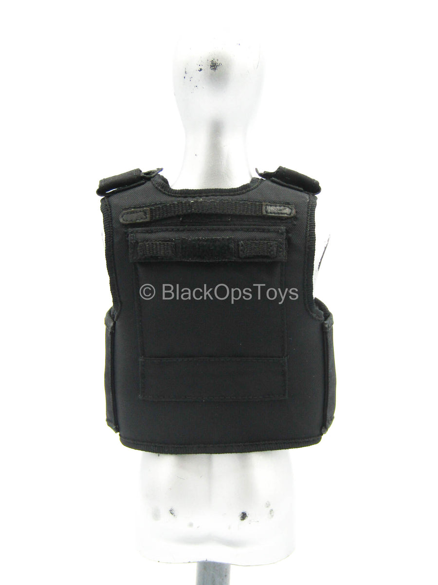 British - Armed MPS - Black Plate Carrier Vest