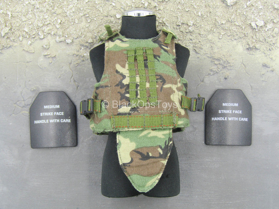 Seal Team 3 - Woodland Plate Carrier Vest w/Plates (x2)