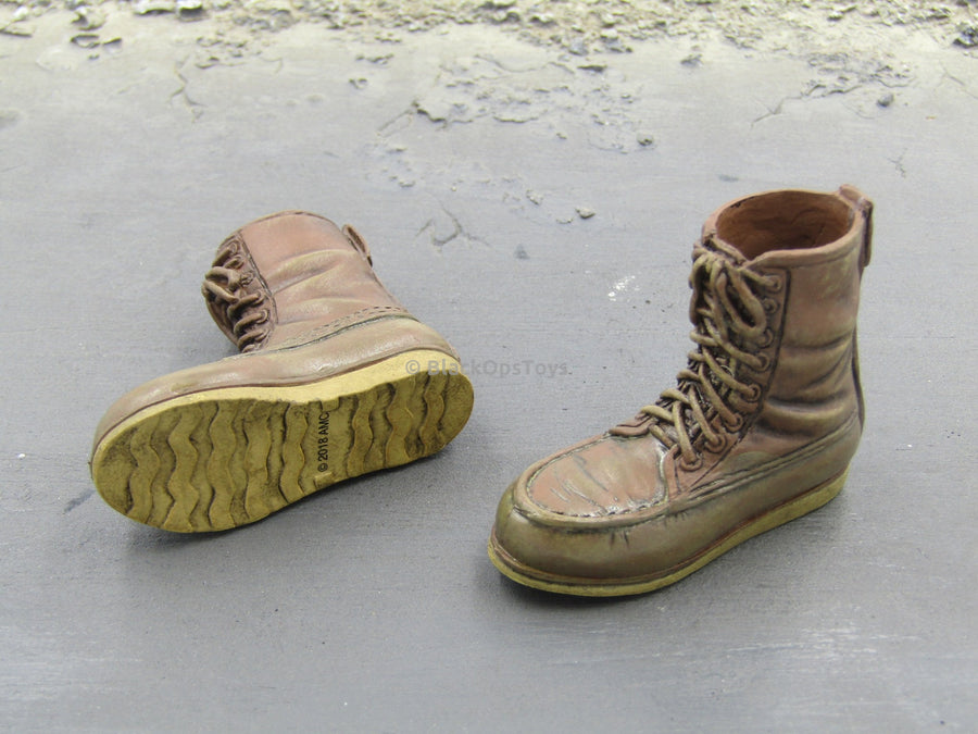 Daryl Dixon The Walking Dead Combat Boots Peg Type