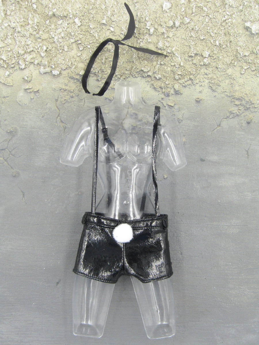 Bunny Girl Killer - Pleather Like Shorts & Suspenders Set