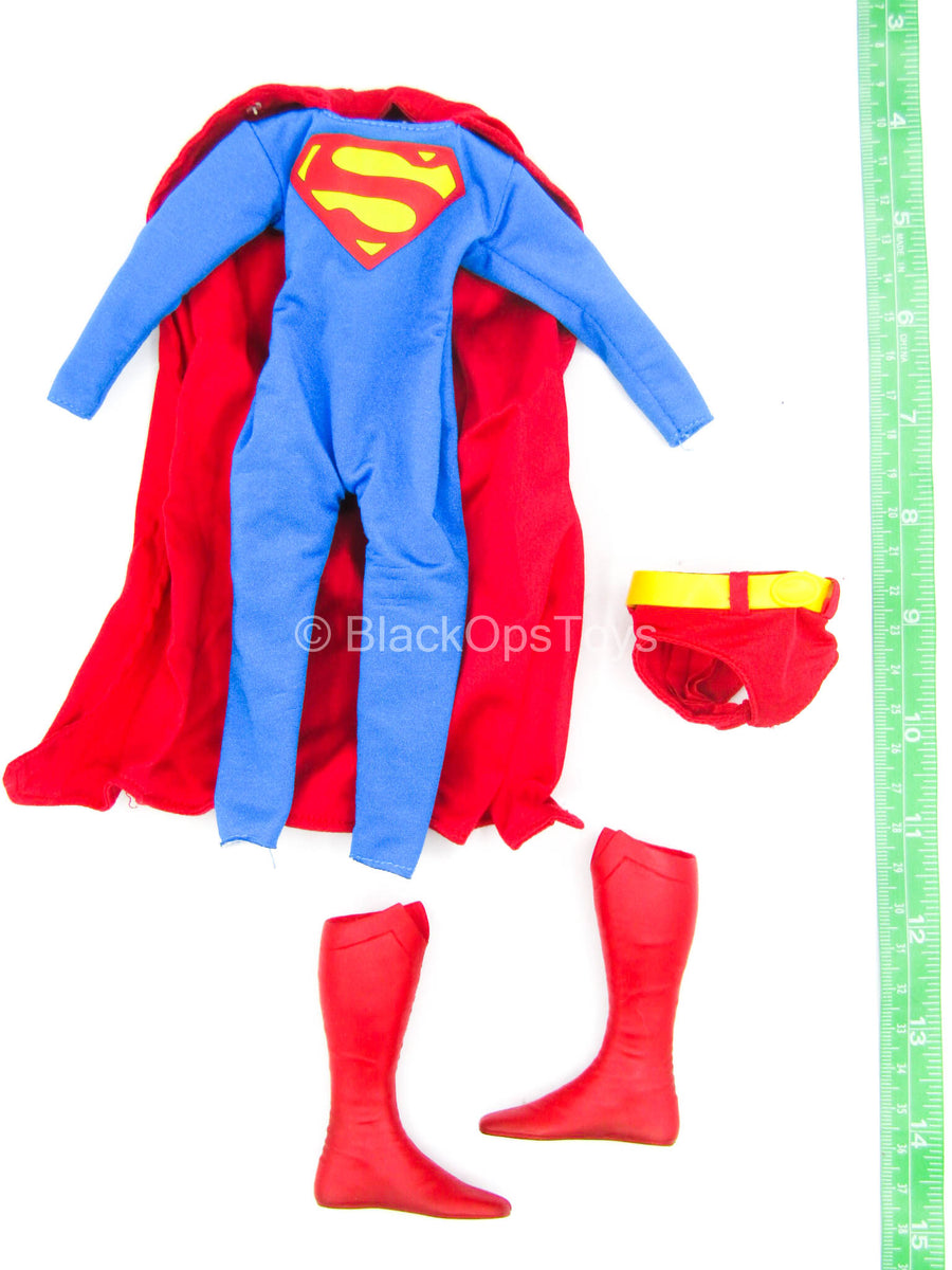 Superman - Blue & Red Full Body Uniform w/Cape & Boots