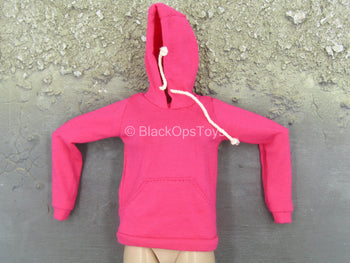 Female Clothing - Pink Hoodie