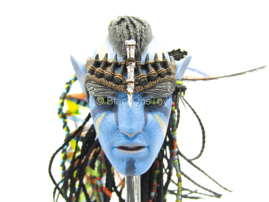 Avatar - Jake Sully - Blue Male Head Sculpt w/Braided Hair