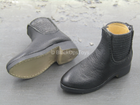 Western Gear - Black Leather Civilian Ankle Shoes (Foot Type)