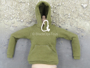 Female Clothing - Green Hoodie