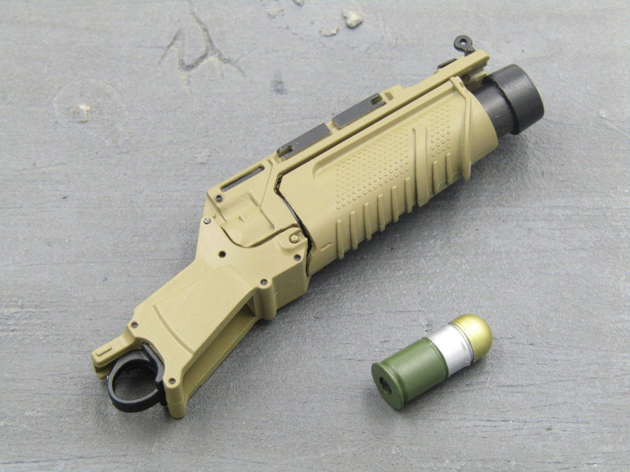 RIFLE - Tan EGLM 5.56 Light Grenade Launcher Attachment