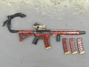 Suicide Squad - Deadshot - Red Custom AR-15 w/Accessory Set