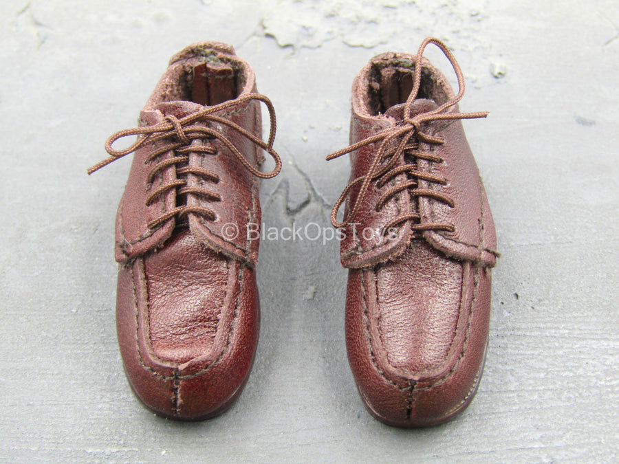 Black Wolffe WITSEC - Brown Leather-Like Shoes (Foot Type)