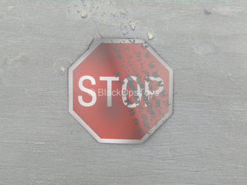 Suicide Squad - Deadshot - Metal Weathered Stop Sign