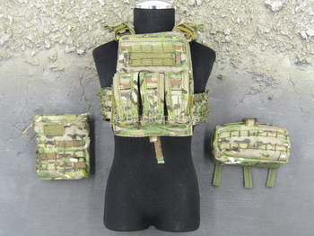 Army Ranger RRC - Multicam MOLLE Plate Carrier w/Pouch Set