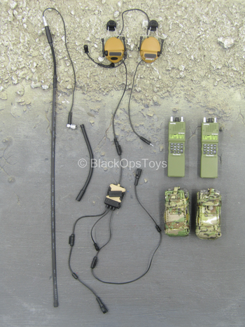 Army Ranger RRC - Green Radio Set w/Whip Antenna & Headphones