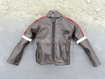 IMF Agent - Brown Striped Leather Like Jacket