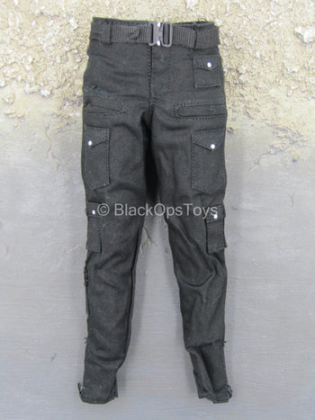 Suicide Squad - Deadshot - Black Combat Pants w/Belt