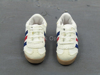 IMF Agent - White Striped Sneaker Shoes (Foot Type)