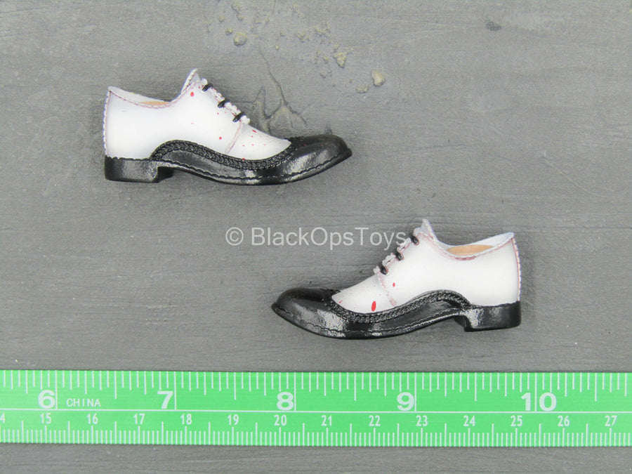 Misty Midnight - Jack the Ripper - Black & White Shoes (Peg Type)