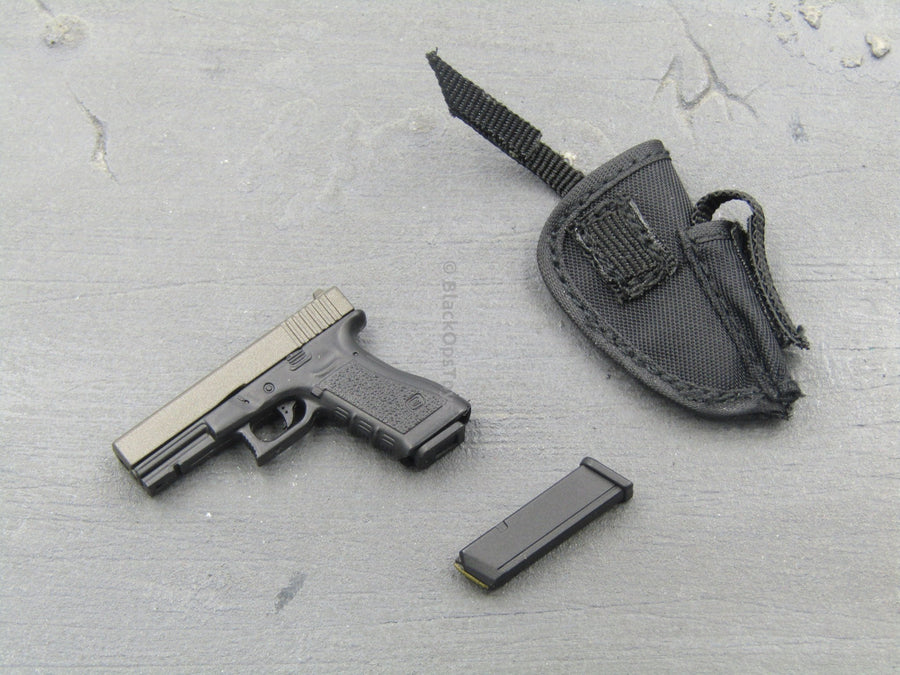 """CATCH ME"" - 9MM Pistol w/Black MOLLE Holster"
